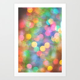Rainbow Bokeh I Art Print