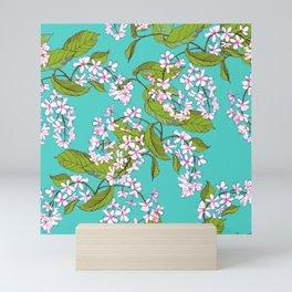 Bird cherry, spring pattern Mini Art Print
