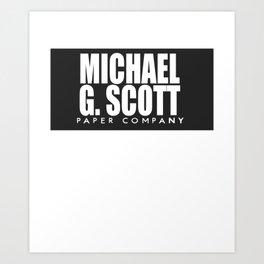 The Office Michael Paper Company Art Print