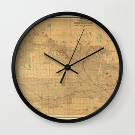 Canadian Mounted Police Map Wall Clock