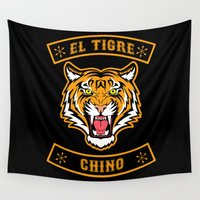 community Wall Tapestries featuring El Tigre Chino community by Buby87