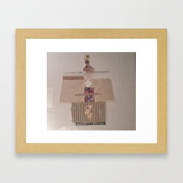 Teetering On The Abyss Framed Art Print