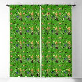 Cycledelic Green Blackout Curtain