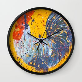 """""""mista roosta""""  Rooster Rooster Wall Clock"""