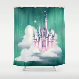 Star Castle In The Clouds Shower Curtain