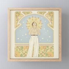 (You're so) Golden Art Noueau Framed Mini Art Print