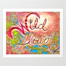 Pink Pastel Wildflower Art Print