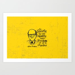 Milton Friedman Art Print