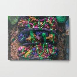 Purple Cauliflower Tacos Metal Print