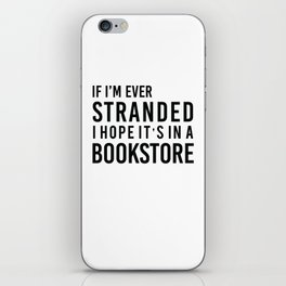 Stranded in a Bookstore iPhone Skin