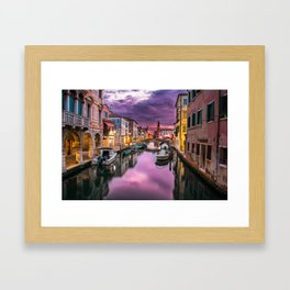 Venice Canal at Sunset Framed Art Print