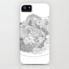Beautiful Sashimi Set - Line Art iPhone Case