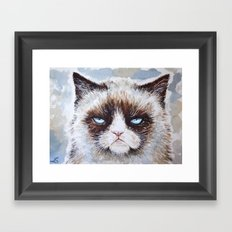 Tard the cat Framed Art Print
