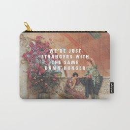 Lawrence Alma-Tadema, Unconscious Rivals (1893) / Halsey, Strangers ft. Lauren Jauregui (2017) Carry-All Pouch