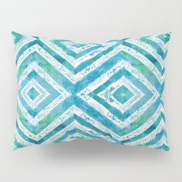 Blue Diamond watercolor pattern Pillow Sham