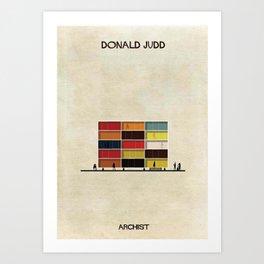 Donald Judd Art Print