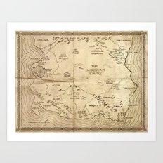 Map of Imirillia Art Print