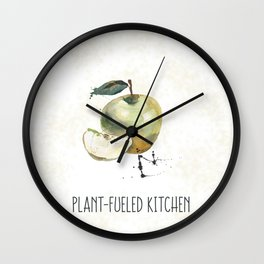 Plant-Fueled Kitchen Apple Wall Clock