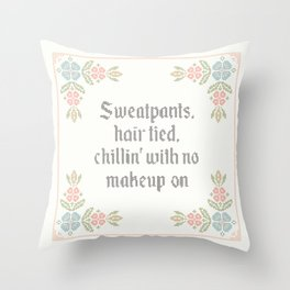 Vintage Inspired Throw Pillow with Rap Lyrics by Drake Throw Pillow