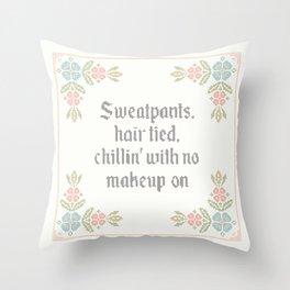 Vintage Inspired Throw Pillow with Rap Lyrics by Drake Throw Pillow