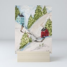 Neighbors in New England Mini Art Print