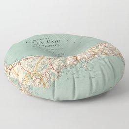 Vintage Map of Cape Cod (1917) Floor Pillow