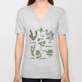 Herb and Seasoning Unisex V-Neck