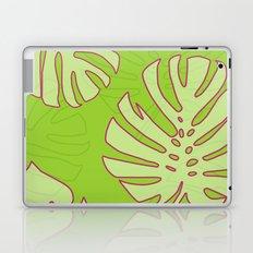 Green Monstera Leaves Unique Pattern Laptop & iPad Skin