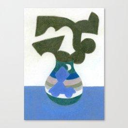 Moonlight Mystery Vase Canvas Print