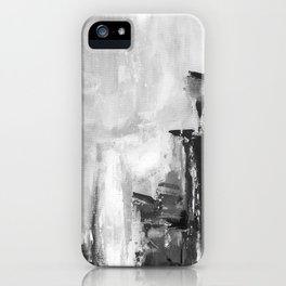 Gray abstract iPhone Case