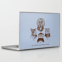 philosophy Laptop & iPad Skins featuring A History of Western Philosophy. With Owls. by Jon Turner