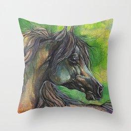 Rainbow horse Throw Pillow