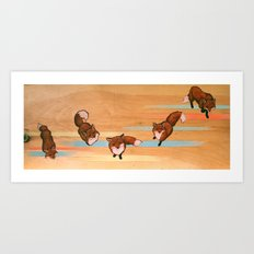 five fox fuge Art Print