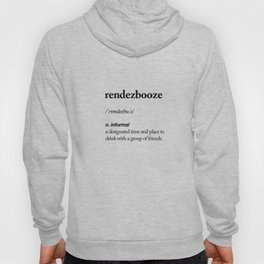 Rendezbooze black and white contemporary minimalism typography design home wall decor bedroom Hoody