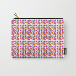 Modern Pink Orange Mix Memphis Abstract Pattern Carry-All Pouch