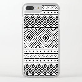 African Mud Cloth Clear iPhone Case