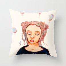 The Black Throw Pillow