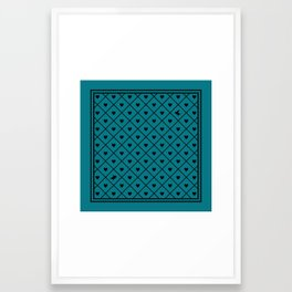 Never Far Away (from the Valentine set) (colors: malachite) Framed Art Print