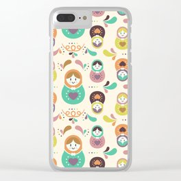 Russian Nesting Dolls Clear iPhone Case