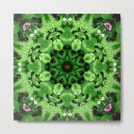Fern and friends kaleidoscope, mandala - Maidenhair, Adiantum 901 k21 3 Metal Print