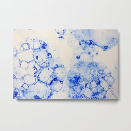 Blue Suds Metal Print