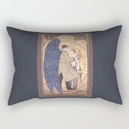 Angelic Intervention (Dean Winchester is Saved) Rectangular Pillow