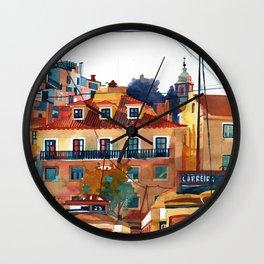 Lisbon area next to the Church of Santa Cruz do Castelo Wall Clock