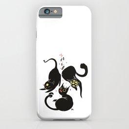 Three Weird Cats. Gothic Dark Art iPhone Case