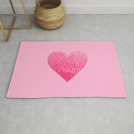 PINK PINK HEART Rug
