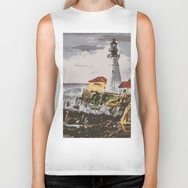 Lighthouse at Maine Biker Tank