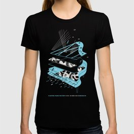 Floating Piano Factory, Brooklyn - Shirt Illustration by S. Ferone T-shirt