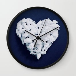 Heart on Blue Wall Clock