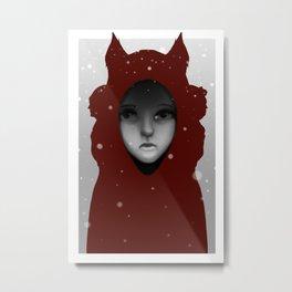 Crimson Hoods Metal Print