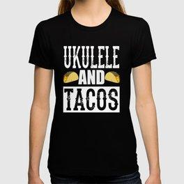 Ukulele and Tacos Funny Taco Band T-shirt
